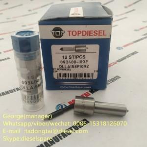 TOPDIESEL COMMON RAIL NOZZLE 093400-1092  DLLA158P1092 =DLLA158P844 FOR INJECTOR 095000-6363/095000-5342/095000-8933